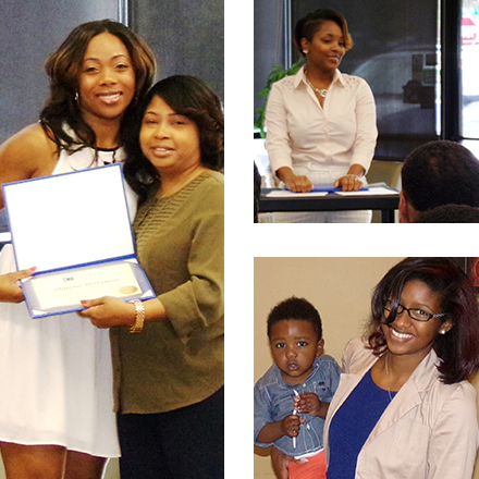 Photo collage of student from Genesis Career College graduating and feeling successful!